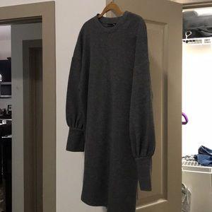 Zara gray winter dress size 8